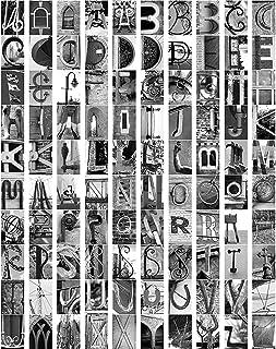 Letter Art - 100 Photo Letters - Photograph Alphabet A B C- Standard 4x6 - DIY Create a Name/Personalize A E I O U