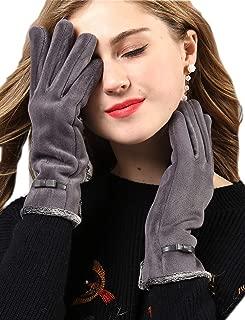 YISEVEN Women's Pleuche Velvet Ladies Winter Accessories Gloves