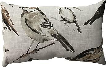 Pillow Perfect Bird Watcher Rectangular Throw Pillow, Charcoal