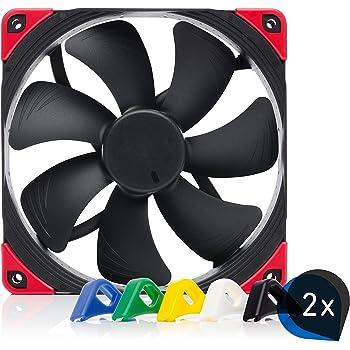 Noctua Bundle: 2x NF-A14 PWM chromax.black.swap, Premium Quiet Fan, 4-Pin (140mm, Black)