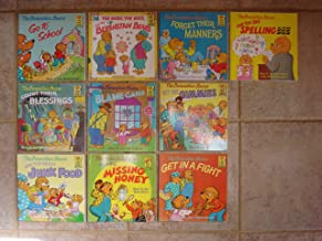 Set of 10 Berenstain Bears First Time Picture Books (Get in a Fight ~ The Big Spelling Bee ~ Forget Their Manners ~ The Birds, the Bees, and the Berenstain Bears ~ Go To School ~ Count Their Blessings ~ Get the Gimmies ~ The Blame Game ~ Too Much Junk Food ~ Missing Honey)