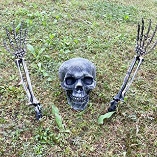 CHICHIC Realistic Looking Skeleton Stakes, Garden Graveyard Yard Lawn Stakes, Halloween Yard Decorations, Ground Breaker S...
