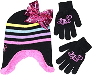Winter Hat Set, JoJo Siwa Beanie and Gloves for Little...