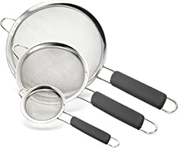 Bellemain micro-perforated Stainless Steel Fine Mesh Strainers