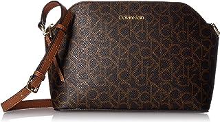 Calvin Klein womens Calvin Klein Mercy Signature Monogram Key Item Top Zip Crossbody