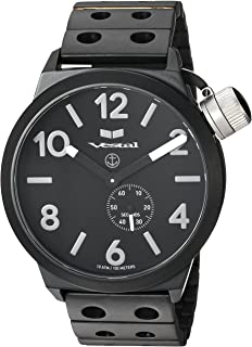 Vestal 'Canteen Metal' Quartz Stainless Steel Casual Watch, Color Black (Model: CNT453M06.DBKM)