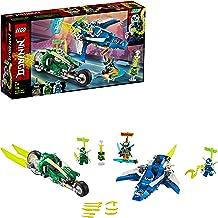 LEGO Ninjago - Vehículos Supremos de Jay y Lloyd, Set de Construcción con Coche y Avión de Juguete, Inspirado en la Carrera Prime Empire, Recomendado a Partir de 7 años (71709)