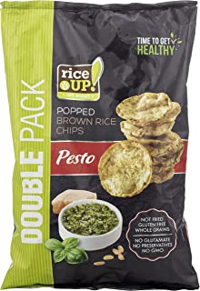 Rice up Wholegrain Brown Rice Chips Pesto, 120 gm (Pack of 1)