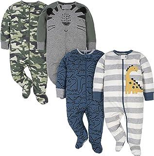 Baby Boys' 4 Pack Sleep N' Play Footie