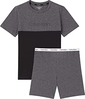 Calvin Klein Knit PJ Set (SS+Short) Conjuntos de Pijama para Niños