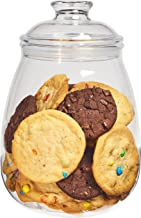 Cookie Jar with Lid, Airtight Clear Plastic Eggplant Shaped in Premium Acrylic