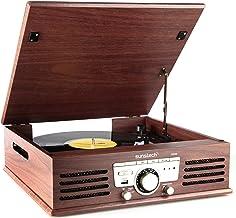 Sunstech PXR3 - Tocadiscos (33 y 45 rpm, USB, FM), color