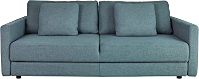 Coaster Home Furnishings Blanchard Track Arm Sofa Bed Blue Sofabed