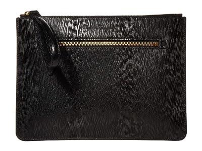 Salvatore Ferragamo Revival 3.0 Travel Document Holder (Black) Handbags