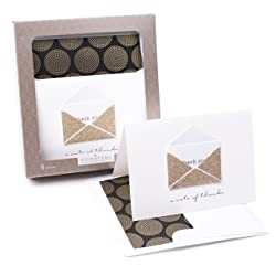 Hallmark Signature Thank You Cards (Gold Envelope, 8 Cards and Envelopes)