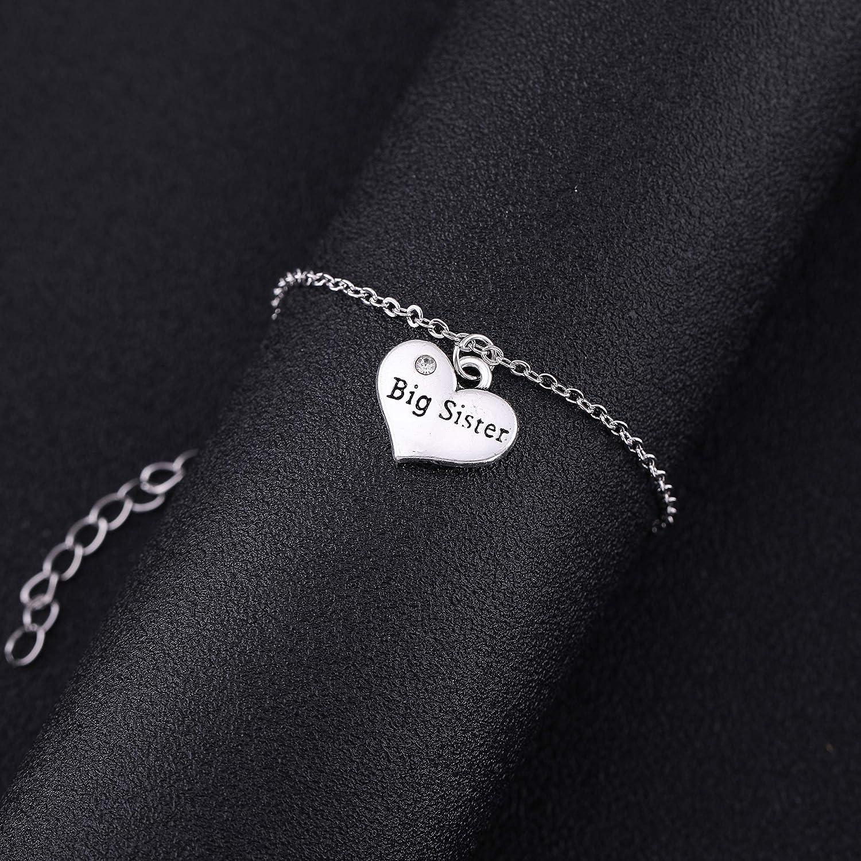 LIKGRAN Braccialetto semplice a forma di cuore con catena sottile