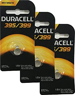 Duracell 395/399 1.5V Silver Oxide Button Battery, 3 Pack