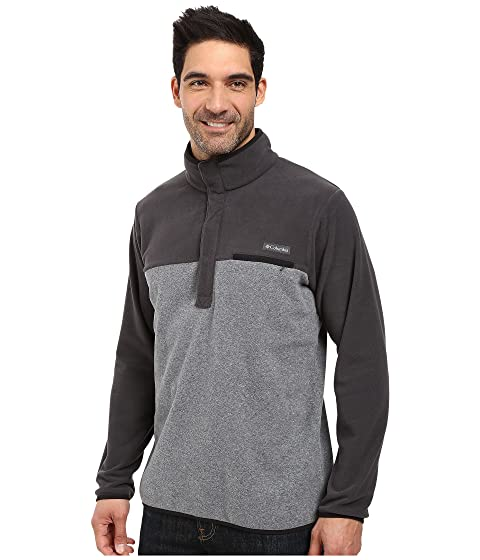 Graphite Columbia Fleece Side Shark Chaqueta Negro Heather Mountain qwISxEgrw