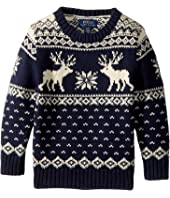 Polo Ralph Lauren Kids - Reindeer Cotton-Wool Sweater (Toddler)