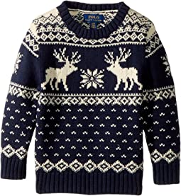 Polo Ralph Lauren Kids - Reindeer Cotton-Wool Sweater (Toddler)