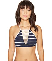 Seafolly - Castaway Stripe High Neck Tankini Top
