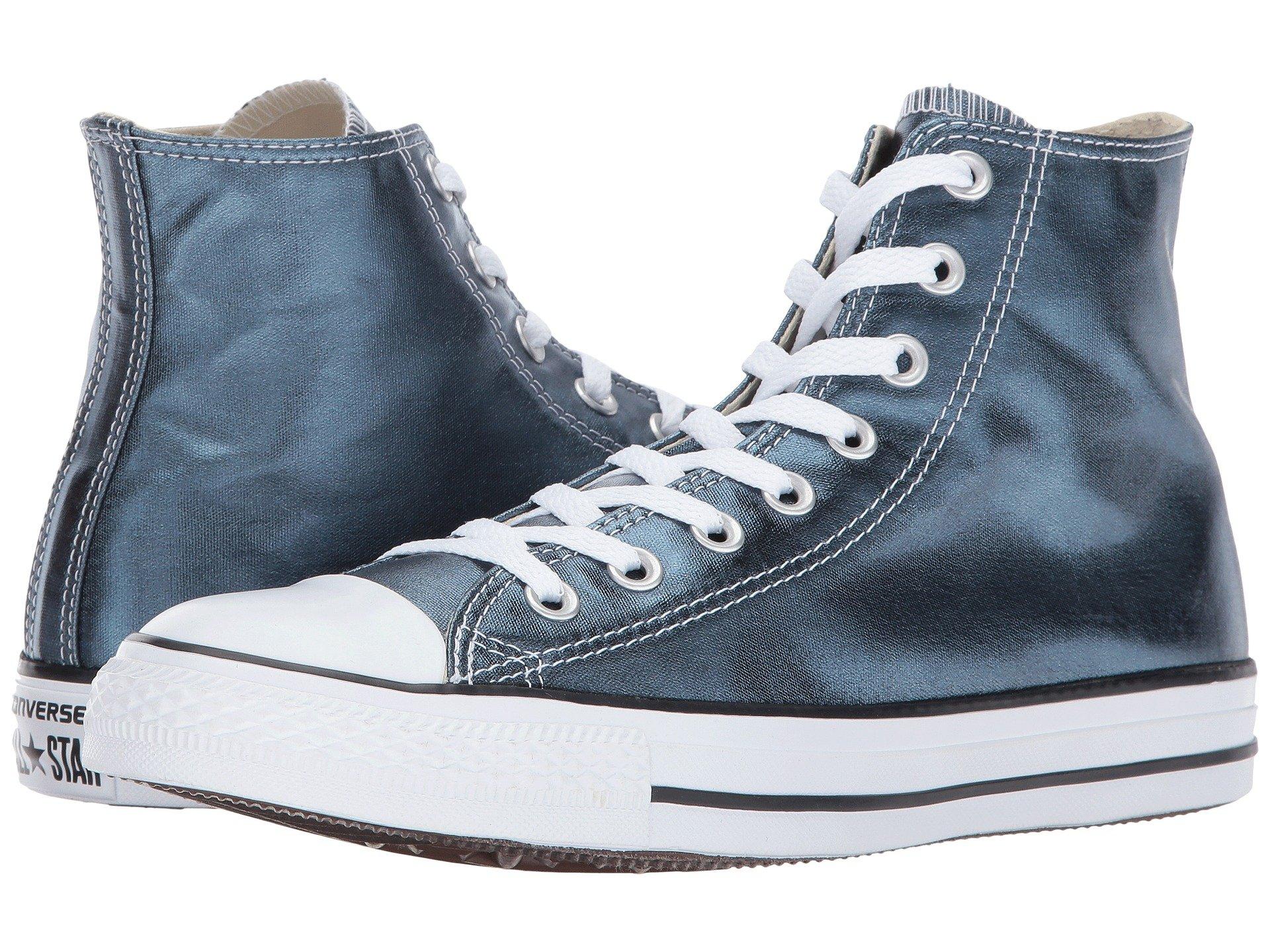 CONVERSE Chuck Taylor All Star - Hi Metallic Canvas, Blue Fir/White/Black