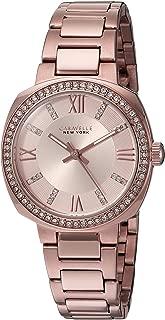 Caravelle New York Women's 44L224 Swarovski Crystal  Rose Gold Tone Watch