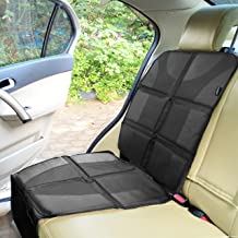 Best Sunferno Car Seat Protector - Protects Your Car Seat from Baby Car Seat Indents, Dirt and Spills - Waterproof Thick Padded Protector to Keep Your Auto Upholstery Looking New - with 2 Storage Pockets Review