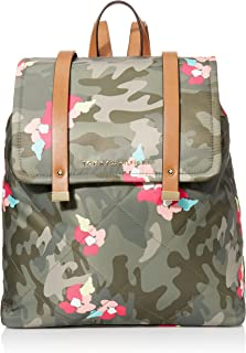 Tommy Hilfiger Women's Amelia Backpack, GREEN/MULTI, OS