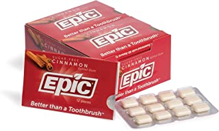 Epic 100% Xylitol-Sweetened Chewing Gum (Cinnamon, 144-Count Boxes)