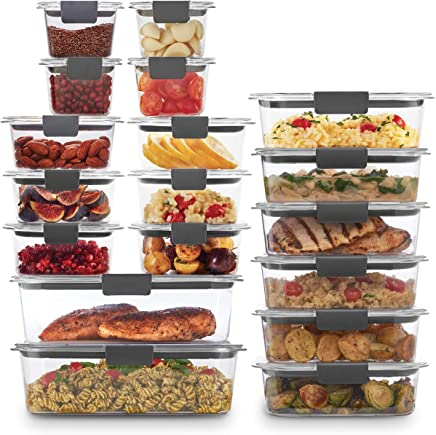 Rubbermaid 2108389 Brilliance Storage 44-Piece Plastic Lids | BPA Free, Leak Proof Food Container, Clear
