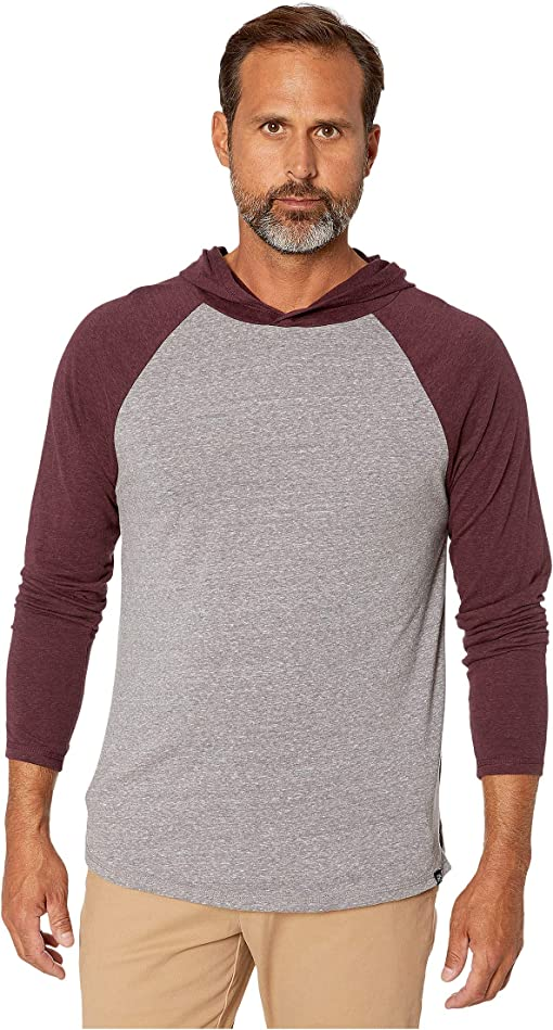 Heather Grey/Maroon Rust