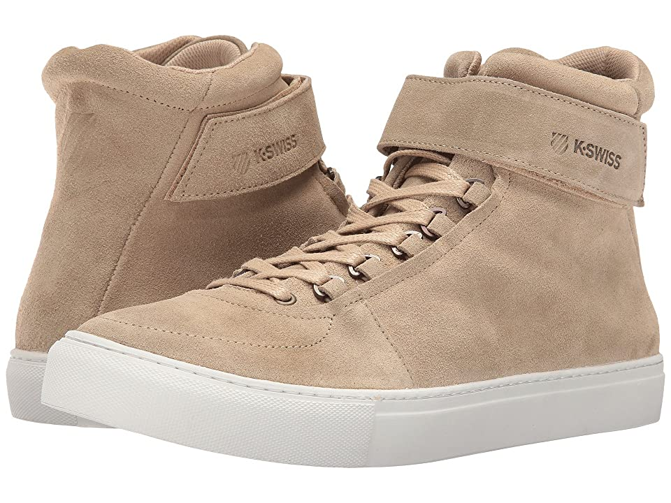 K-Swiss High Court Suede (Sand/Off-White Suede) Men