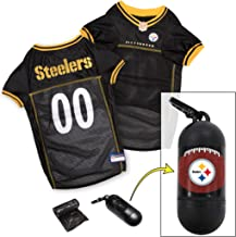 NFL PET Jersey. Most Comfortable Football Licensed Dog Jersey. 32 NFL Teams Available in 7 Sizes. Football Jersey for Dogs, Cats & Animals. - Sports Mesh Jersey. Dog Outfit Shirt Apparel