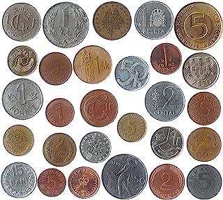 الكثير من 28 عملات مختلفة من كل بلد الاتحاد الأوروبي (جمع ما قبل اليورو). القطع النقدية القابلة للتحصيل والعملات القديمة ل...