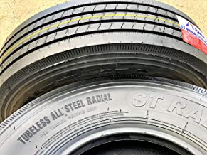 Set of 2 (TWO) Transeagle ST Radial All Steel Heavy Duty Premium Trailer Tires - ST235/85R16 132/127M G (14 Ply)