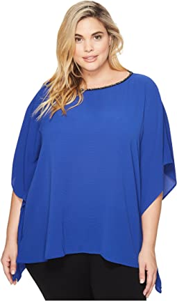 MICHAEL Michael Kors - Plus Size Chain Neck Detail Top