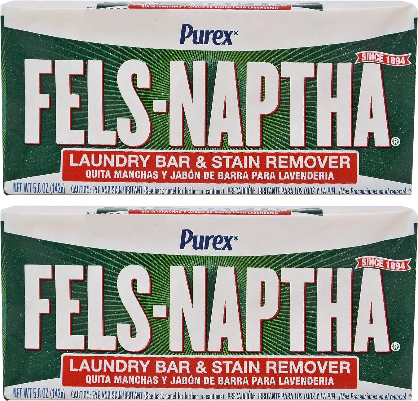 ブルゴーニュ定期的な肺炎Fels Naptha Heavy Duty Laundry Soap Bar - 5.5 oz - 2 pk by Fels Naptha