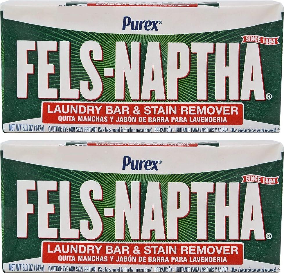アボート文句を言う自然Fels Naptha Heavy Duty Laundry Soap Bar - 5.5 oz - 2 pk by Fels Naptha