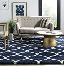 Genius decors California Shagy Collection Carpet Rugs (Navy Blue, 5X7)