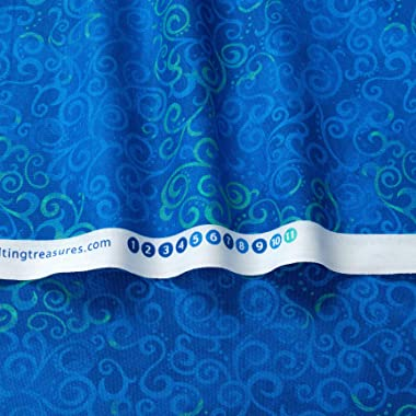 Quilting Treasures Qt Quilt Fabrics 108In Wide Quilt Back Ombre Scroll Quilt Fabric By The Yard, Royal