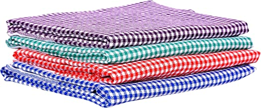 "COMFORT WEAVE Cotton Bath Towel, 29""x58"", Multicolour - Pack of 4 Piece"