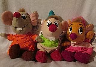 Disney Store Cinderella Mouse Stuffed Bean Bag Plush Jaq, Suzy, Gus Mice Plush Set