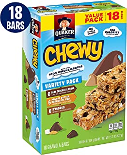 Quaker Chewy Granola Bars Variety Value Pack 15.2 oz