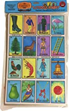 Tio Chente Mexican Bingo Loteria Family Board Game - Set of 20 Jumbo Boards and Deck of 54 Cards