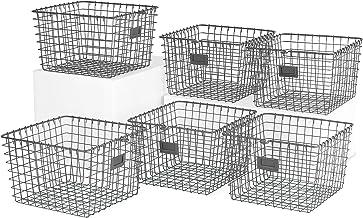 Spectrum Diversified 47976-6 Storage Basket, Medium, Industrial Gray - Pack of 6
