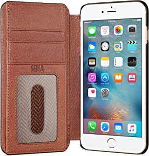 Sena Ultra Thin Wallet Book, Thinnest Book Style Wallet case Solution for The iPhone 6 Plus & 6s Plus