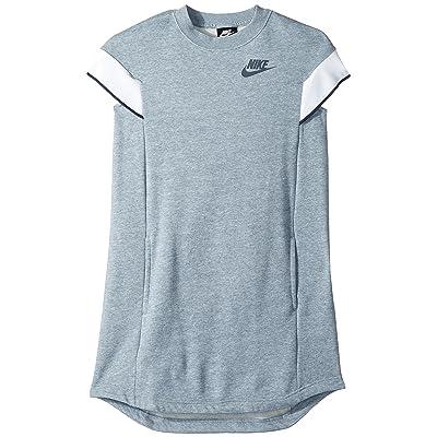 Nike Kids NSW Short Sleeve Dress (Little Kids/Big Kids) (Ashen Slate/Heather/Thunder Blue) Girl