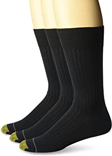 Gold Toe Men`s Classic Canterbury Crew Socks (Pack of 3), Shoe Size: 6-12.5