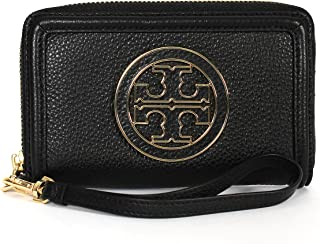 Tory Burch Amanda Smart Phone Wristlet in Black Leather